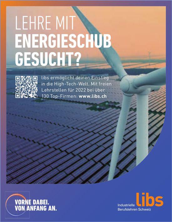 Lehre mit Energieschub gesucht?, Libs Industrielle Berufslehren Schweiz