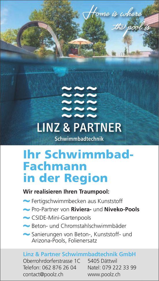 Linz & Partner Schwimmbadtechnik GmbH, Dättwil - Ihr Schwimmbad-Fachmann in der Region