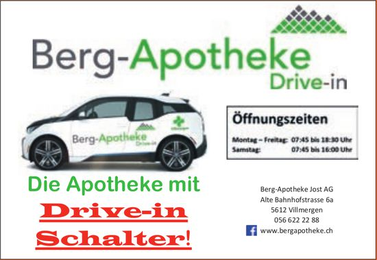 Berg-Apotheke Jost AG, Villmergen - Drive-in Schalter