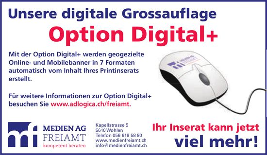 Medien AG Freiamt, Wohlen - Option Digital+