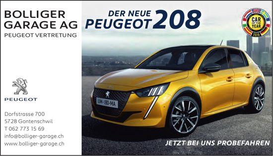 Bolliger Garage AG, Gontenschwil - Der neue Peugeot 208
