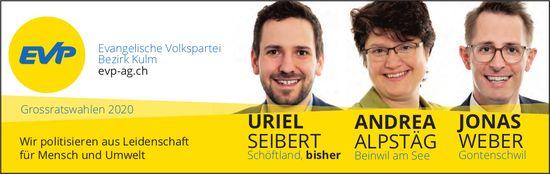 Uriel Seibert, Andrea Alpstäg & Jonas Weber in den Grossen Rat