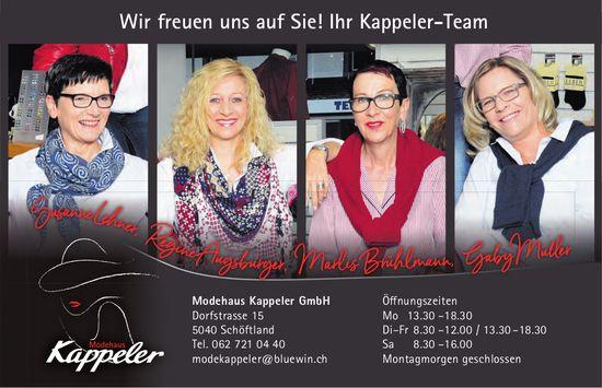Modehaus Kappeler GmbH, Schöftland - Wir freuen uns auf Sie!