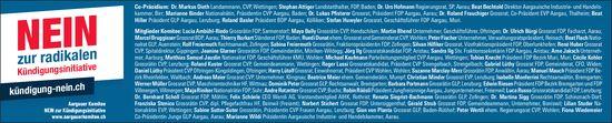 Aargauerkomitee - Nein zur radikalen Kündigungsinitiative