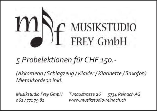 Musikstudio Frey GmbH, Reinach AG - 5 Probelektionen für CHF 150.-