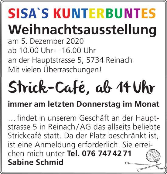 Weihnachtsausstellung & Strick-Café, 5. Dezember, Reinach