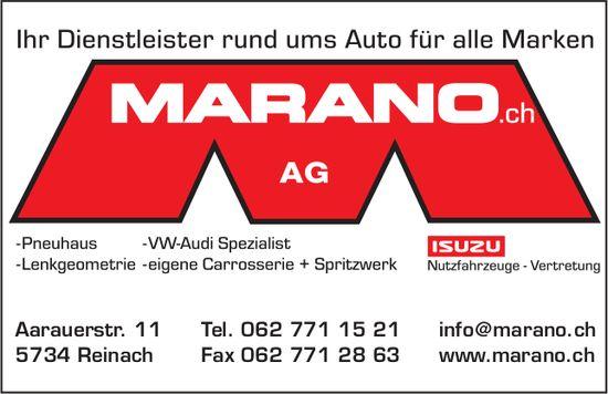 Marano.ch AG, Reinach - Ihr Dienstleister rund ums Auto für alle Marken