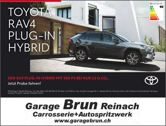 Garage Brun, Carrosserie + Autospritzwerk, Reinach - Toyota RAV4 Plug-in Hybrid