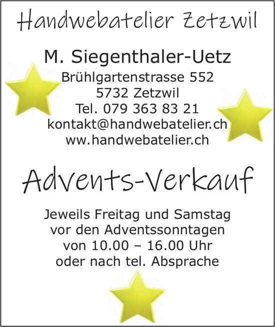 Handwebatelier, Zetzwil - Advents-Verkauf