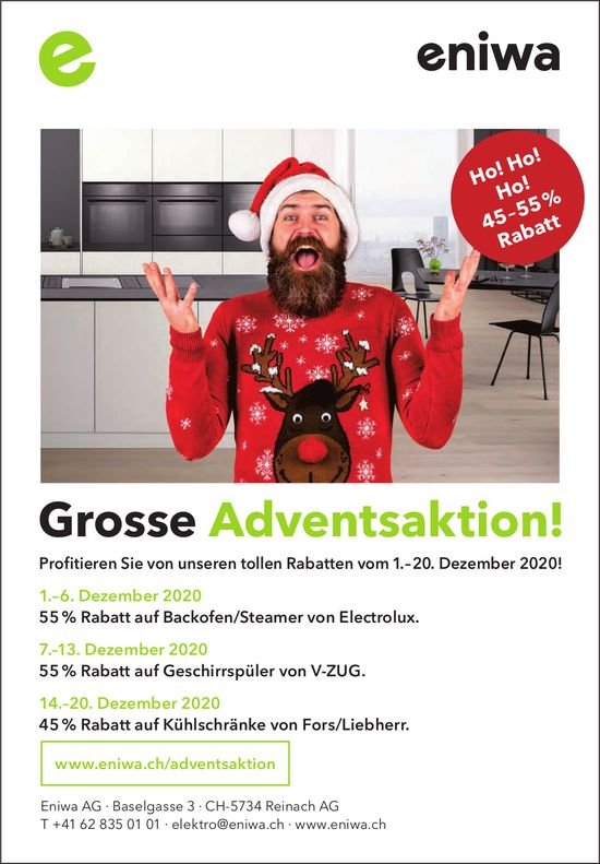 Eniwa AG, Reinach AG - Grosse Adventsaktion!