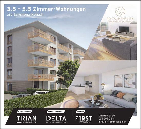 3.5 – 5.5 Zimmer-Wohnungen, Menziken, zu verkaufen