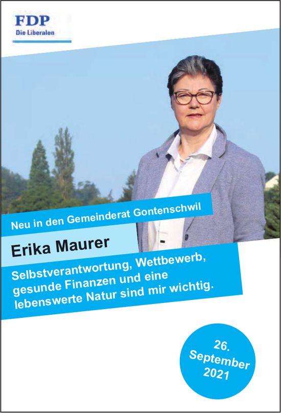 FDP - Erika Maurer in den Gemeinderat