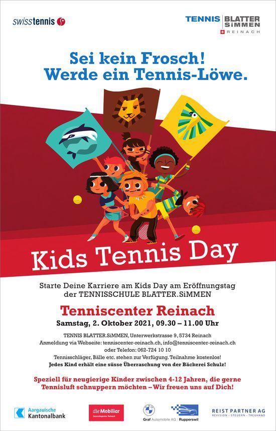 Kids Tennis Day, 2. Oktober, Tenniscenter, Reinach