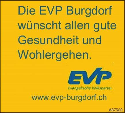 EVP, Burgdorf - Die EVP Burgdorf wünscht allen gute Gesundheit und Wohlergehen.