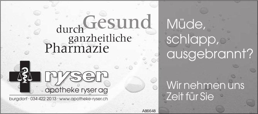 Apotheke Ryser AG, Burgdorf - Müde, schlapp, ausgebrannt?