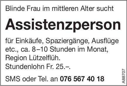 Assistenzperson, Region Lützelflüh, gesucht