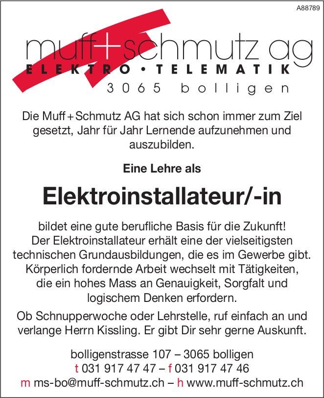 Lehrstelle als Elektroinstallateur/-in, Muff + Schmutz AG, Bolligen, zu vergeben