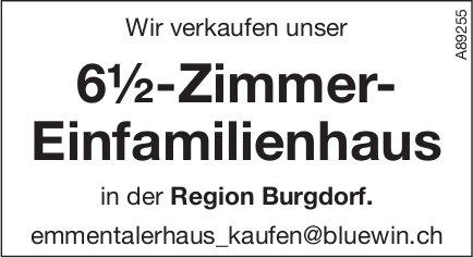 6½-Zimmer- Einfamilienhaus, Region Burgdorf, zu verkaufen