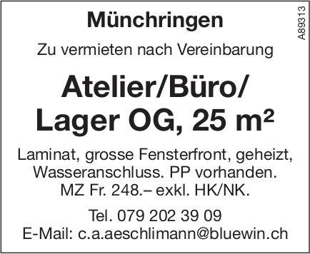 Atelier/Büro/ Lager OG,  25 m², Münchringen, zu vermieten