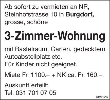 3-Zimmer-Wohnung, Burgdorf, zu vermieten