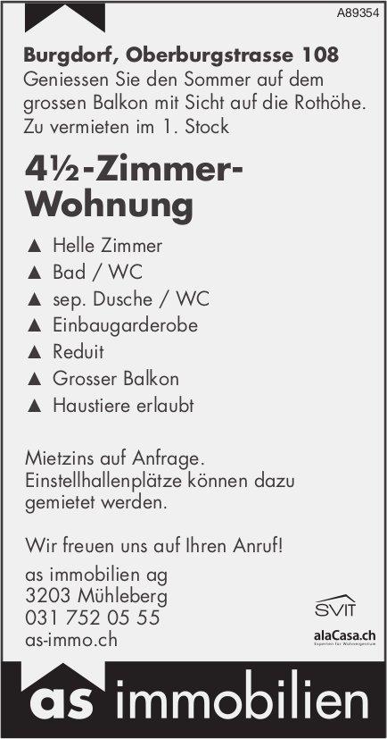 4½-Zimmer- Wohnung, Burgdorf, zu vermieten