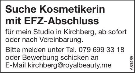 Suche Kosmetikerin mit EFZ-Abschluss, Kirchberg