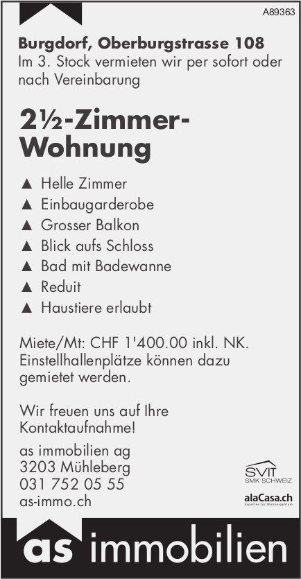 2½-Zimmer- Wohnung, Burgdorf, zu vermieten