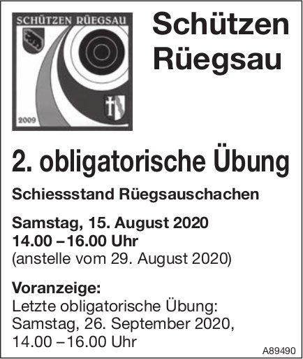 Schützen Rüegsau - 2. obligatorische Übung am 15. August