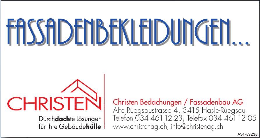 Christen Bedachungen / Fassadenbau AG, Hasle-Rüegsau - Fassadenbekleidungen...