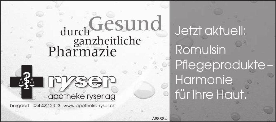 Apotheke Ryser AG, Burgdorf - Jetzt aktuell: Romulsin Pflegeprodukte – Harmonie für Ihre Haut.