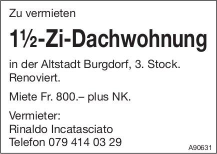 1.5-Zi-Dachwohnung, Burgdorf, zu vermieten