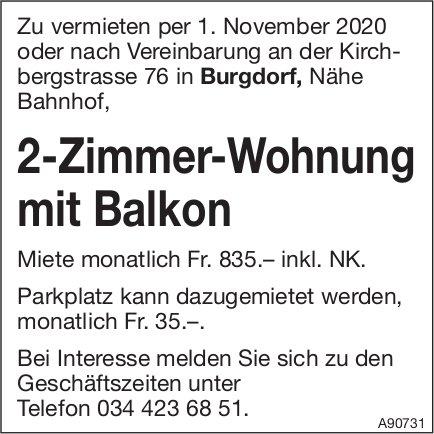 2-Zimmer-Wohnung mit Balkon, Burgdorf, zu vermieten