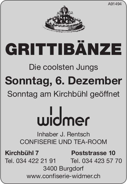 Grittibänze - Die coolsten Jungs, 6. Dezember, Confiserie Widmer, Burgdorf