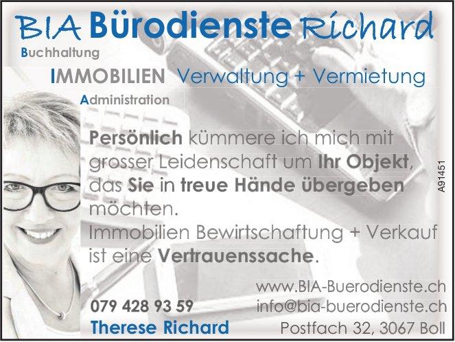 Bia Bürodienste Richard, Boll - Verwaltung + Vermietung