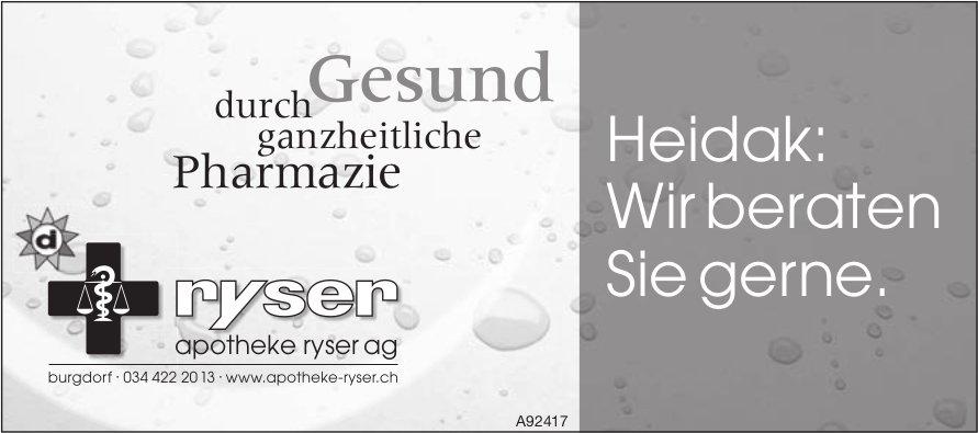 Apotheke Ryser AG, Burgdorf - Heidak: Wir beraten Sie gerne.