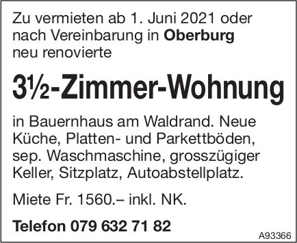 3.5-Zimmer-Wohnung, Oberburg, zu vermieten