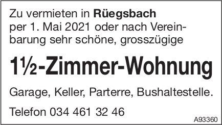1.5-Zimmer-Wohnung, Rüegsbach, zu vermieten