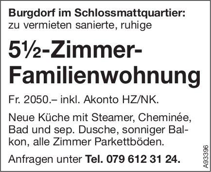 5.5-Zimmer-Familienwohnung, Burgdorf, zu vermieten