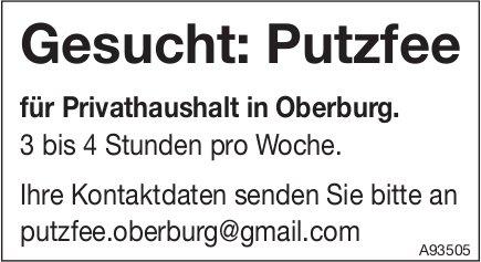 Putzfee, Privathaushalt, Oberburg, gesucht
