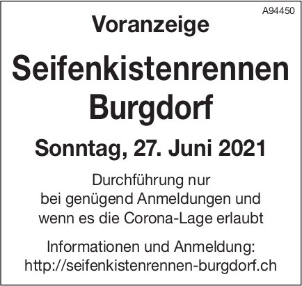 Seifenkistenrennen, 27. Juni, Burgdorf