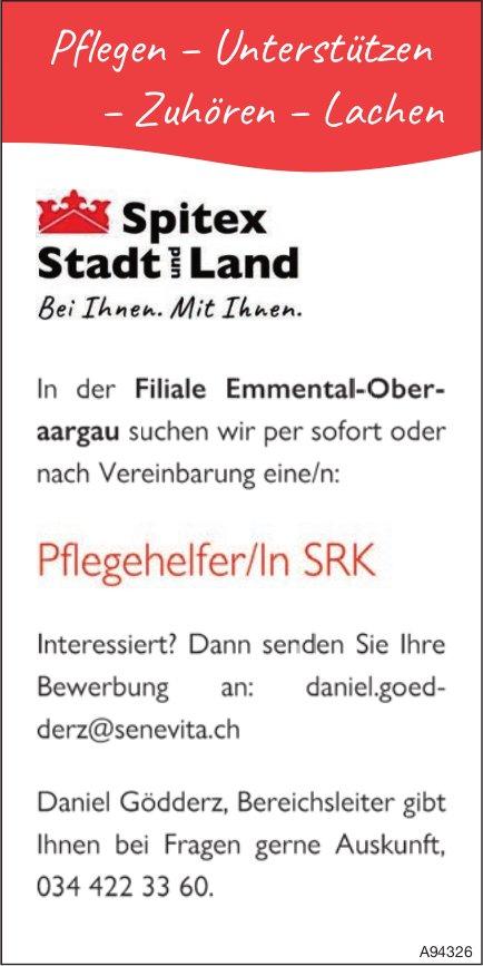 Pflegehelfer/In SRK, Spitex Stadt und Land, Filiale Emmental-Oberaargau, gesucht