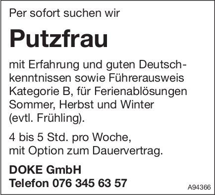 Putzfrau, DOKE GmbH, gesucht