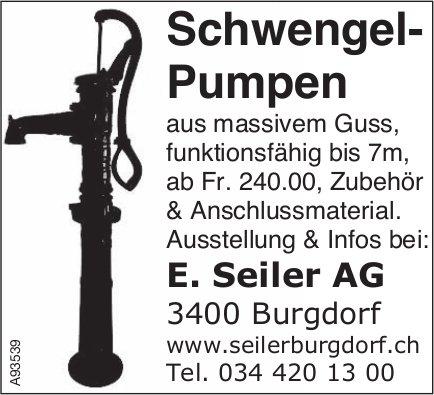 E. Seiler AG, Burgdorf - Schwengel-Pumpen