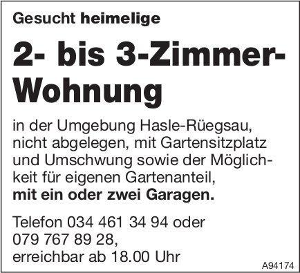 2- bis 3-Zimmer-Wohnung, Hasle-Rüegsau, zu mieten gesucht