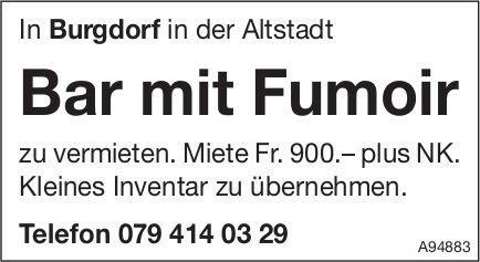 Bar mit Fumoir, Burgdorf, zu vermieten