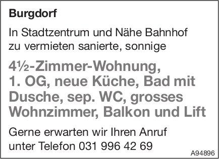 4.5-Zimmer-Wohnung, 1. OG, Burgdorf, zu vermieten