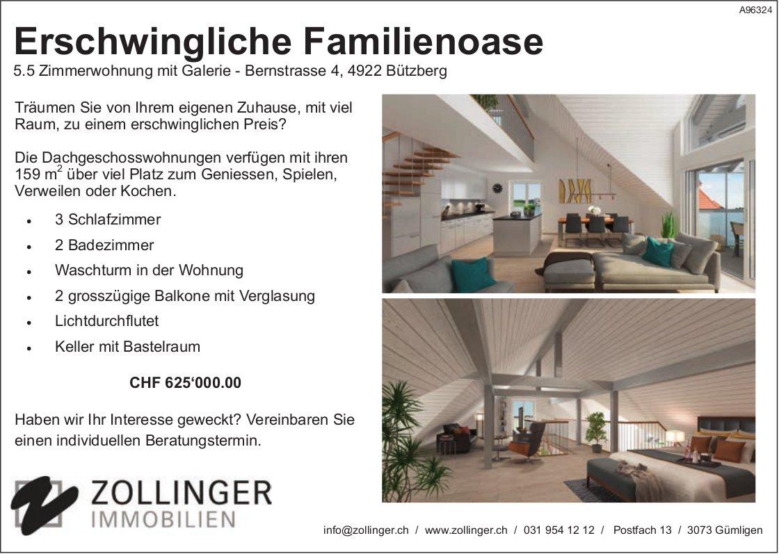5.5 Zimmerwohnung mit Galerie, Bützberg, zu verkaufen