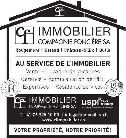 CF IMMOBILIER FONCIÈRE SA - AU SERVICE DE L'IMMOBILIER