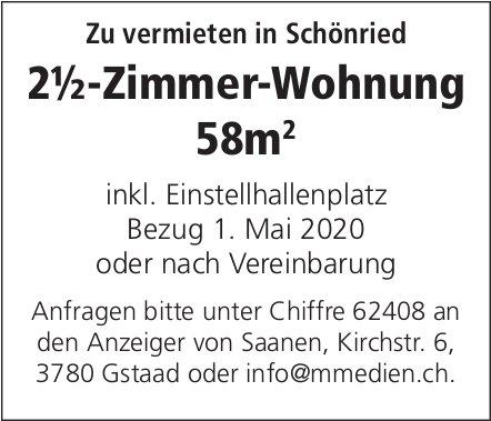 2.5-Zimmer-Wohnung 58m2, Schönried, zu vermieten