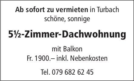 5.5-Zimmer-Dachwohnung, Turbach, zu vermieten